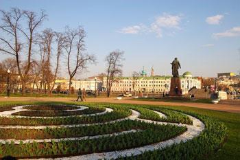 Spring Garden in Moscow
