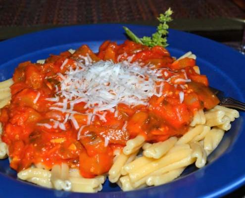 Fresh Sicilian Eggplant and Tomato Sauce
