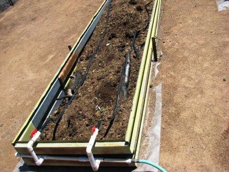 Worm bed with drip