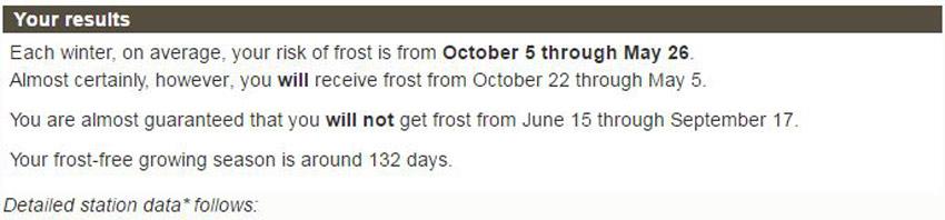 Frost Dates Header