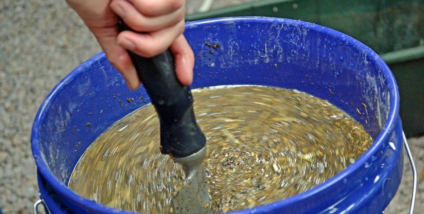 Stirring Compost and Sardines