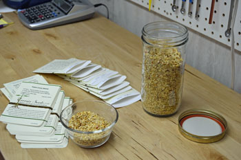 Hand Packing Melrose Pepper Seed