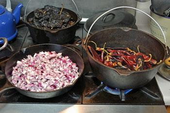 Roasting Chiles