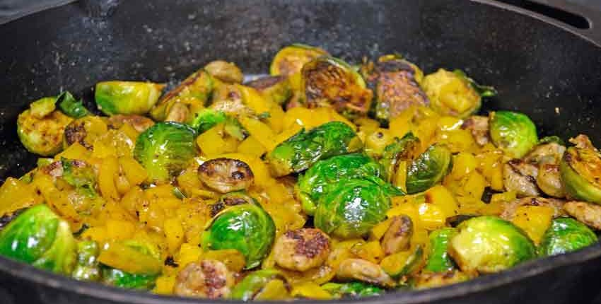 Pan Roasting Brussels Sprouts