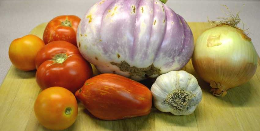 Eggplant and Tomato Sauce Ingredients