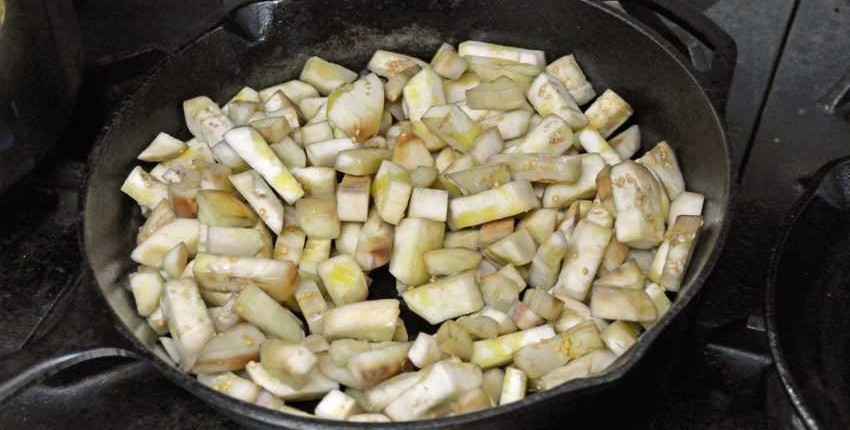 Pan Roasting Eggplant