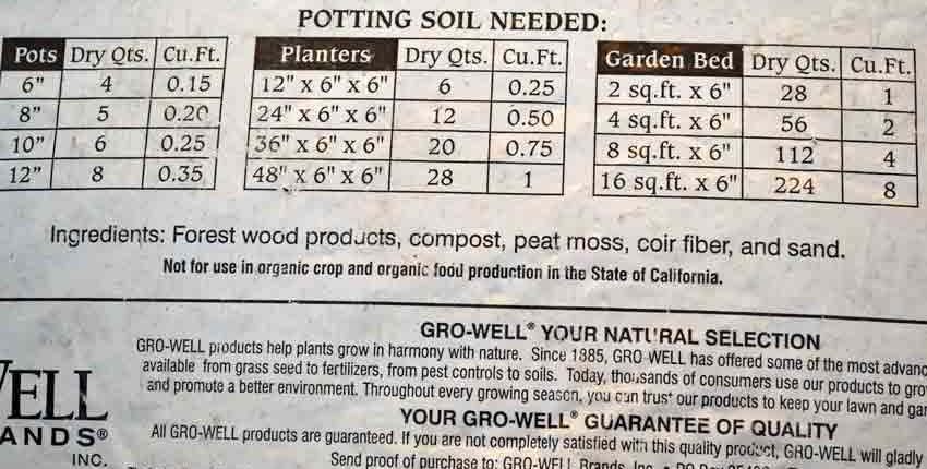 Garden Time Potting Soil Ingredients