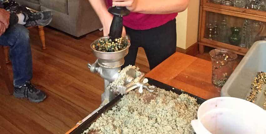 Grinding Oaxacan Corn
